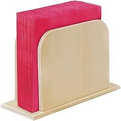 Multicraft Imports-Adornos Servilletero de madera (5,25x 5.12-inch, acrílico, multicolor