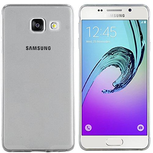 moodie Silikonhülle für Samsung Galaxy A3 (2016) Hülle in Anthrazit-transparent - Case Schutzhülle Tasche für Samsung Galaxy A3 (2016)