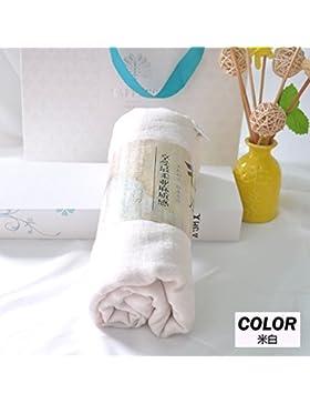 Otoño Algodón Bufanda decorada en la primavera y el otoño, el color puro y elegante pañuelo de seda Moda Mujer...