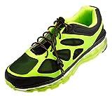 Flexy Lock Lace Schnell-Schnürsystem aus Polyester in braun/schwarz - gestreift auch geeignet als Triathlon-Schnürsystem, ideal für Kinder, Senioren oder körperlich eingeschränkte Personen