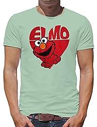 f330750885 Touchlines Merchandise TLM Elmo in Heart T-Shirt Herren XL Pastelblau