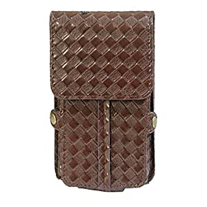 J Cover A6 Elegant F Series Leather Pouch Holster Case For Huawei Ascend P6 Dark Brown
