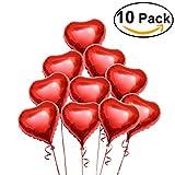 PIXNOR Globos de helio la hoja con las cuerdas para el día de San Valentín decoración de compromiso de boda, paquete de 10