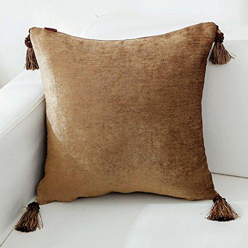 ZUOANCHEN Kissen amerikanischen Land Chenille Kissen Wohnzimmer Sofa Kissen Schlafzimmer Kissenbezug quadratischen modernen Franse Design mit Kissen 45 * 45cm (Farbe : Style-1) -