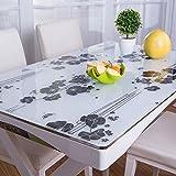 PVC-Kunststoff Transparent Matt Weichem Glas Kristall Platte Tischset Tischauflage Transparent Tischdecke Tischset Tischset (Muster : 12, Größe : 70x130cm(28x51inch))