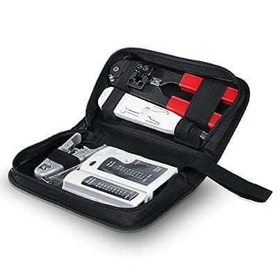 CSL - Pack avec Testeur de câble réseau pour câbles RJ45/RJ11 | testeur de câbles Patch | Deux différentes Vitesses | sélecteur on/Off de CSl-Computer