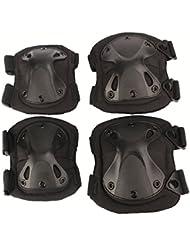 Airsoft Tactical genou réglable Elbow protection Pads Set Équipement de protection Sport Chasse Tir Pads