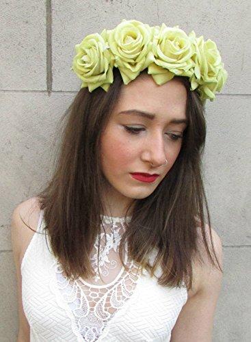 Grand jaune vert rose Guirlande Cheveux Fleur Couronne Bandeau Boho festival Big V95 * * * * * * * * exclusivement vendu par – Beauté * * * * * * * *