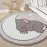 The Rug House Kinderzimmer Stil Elefant, Mond und Sterne Kids Baby Zimmer Kinder Boden Teppich Matte