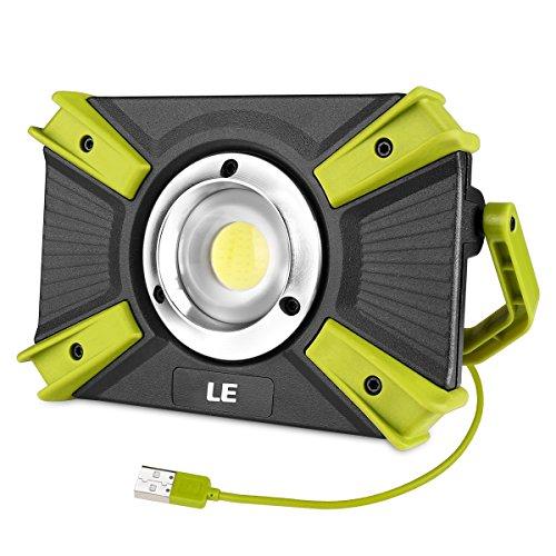 LE LED Campinglampe Tragbar, Superhell 1500 Lumen Wiederaufladbare Suchscheinwerfer mit 4400mAh Powerbank, Dimmbar Notfallleuchte mit 3 Lichtmodi für Stromausfällen, Wandern, Ausfälle usw.