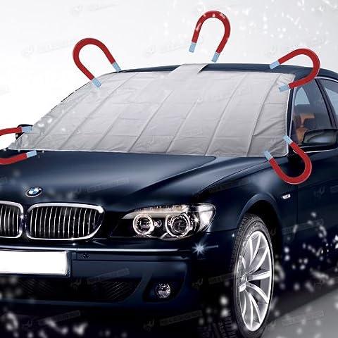 Amos magnetisch Auto Windschutzscheibe Cover Universal Anti Frost Snow Ice Shield Staub Sun Sonnenschutz Windschutzscheibe mit selbst Storage Bag Pouch