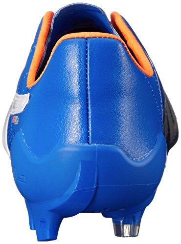 Puma evoSPEED Sl Leder Fg FuÃ?ballschuh Electric Blue Lemonade/White/Orange Clown Fish
