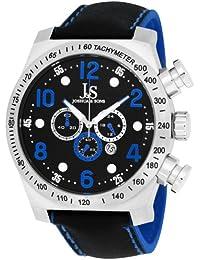 Joshua & Sons Hombre Cronógrafo Acero inoxidable Azul Deporte correa Reloj