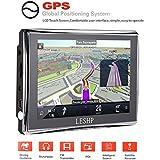 LESHP Navegador GPS para Coche 5'' Pantalla Táctil con FM 8GB/128M Actualización Gratuita de Mapa de Europa por toda la Vida
