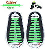 No Tie Flat Shoelaces for Kids, Men & Women | Waterproof & Stretchy Silicone Tieless Shoe Laces | for Athletic & Dress Shoes, Hiking Boots & More | Eliminate Loose Shoelace Accidents