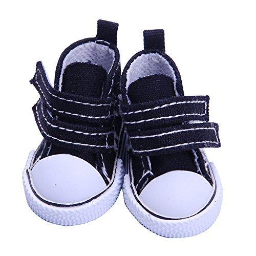 Driverder 14 Zoll süße Mädchen Puppe Schuhe Puppe Kleid Spielzeug Zubehör (schwarz) - Süße Schwarze Schuhe