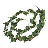 Künstliche Efeugirlande mit 185 Blättern, grün, 350cm - Kunstpflanze Efeu / Girlande künstlich - artplants