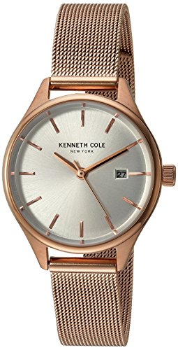 Kenneth Cole New York Women's 'Classic' Quartz Stainless Steel Dress Watch, Color:Rose Gold-Toned (Model: 10030842)