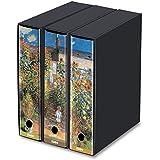 Set da 3 raccoglitori ad anelli dorso 8 - Monet- Il giardino a Vetheuil. 26.8x35x29 cm- KAOS