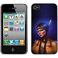 Qstar Art & Design plastica dura Guscio Protettivo Cassa Cover Per Apple iPhone 4 / (Shock Braid)