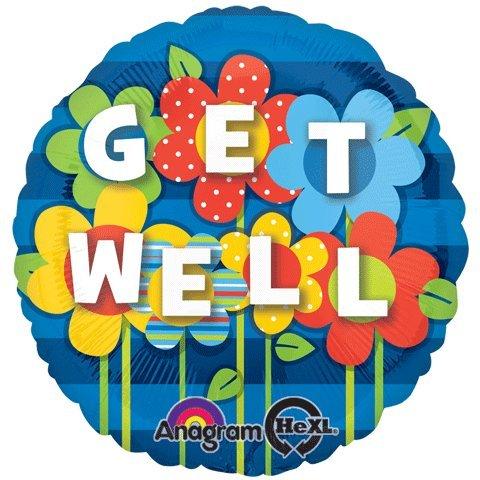 Amscan get well garden foil balloon standard