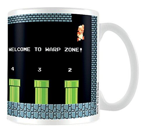 Super Mario Warp zona taza de cerámica, multicolor