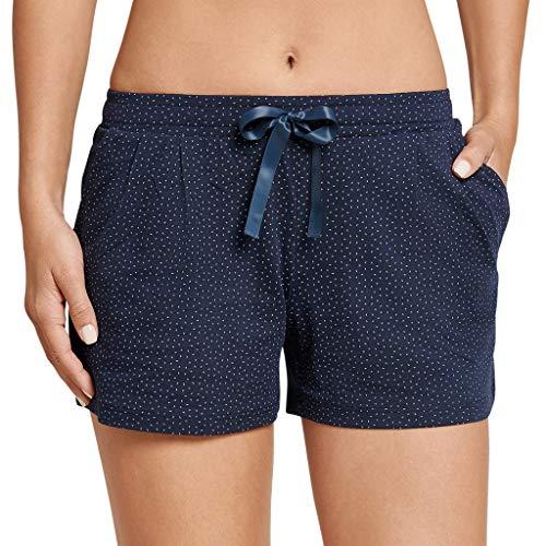 Pyjama Schlaf Shorts (Schiesser - Mix & Relax - Schlafanzug Jersey Hose Kurz - 165669 (38 Nachtblau))