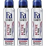 Fa Active & Pure Déodorant pour Homme Flacon 150 ml - Lot de 3