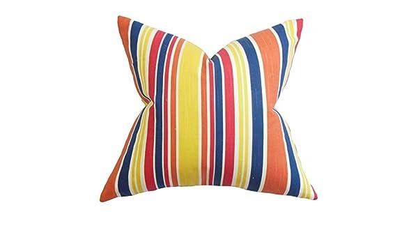 The Pillow Collection Manila Stripe Bedding Sham Pink Standard//20 x 26,