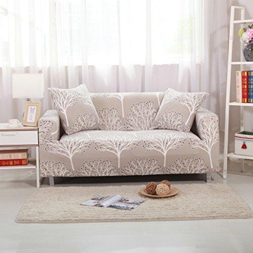HYSENM 1/2/3/4 Sitzer Sofabezug Sofaüberwurf Sesselhussen elastisch farbecht hautfreundlich, Baum 2 Sitzer 145-185cm