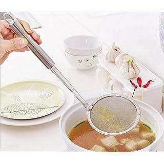 AsentechUK® Stainless Steel Ultrafine Mesh Oil Skimmer Strainer Colander Spoon Filter Soup Strainer Kitchen Tool
