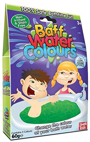 Baff Aquarellfarben Packung à 6 Stellt die Farbe eures Badewassers auf 100% BIOLOGISCH ABBAUBAR um.