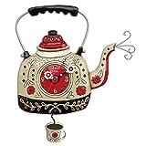 Enesco Allen Designs Horloge, bullitore pour thé, 35cm, Résine, Multicolore, 28x 28x 35.6cm