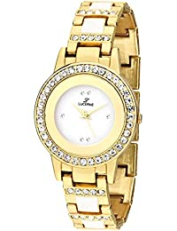 LUCERNE Analogue White Designer Dial Gold Metal Strap Casual Gift Watch For Women A Modern Ladies Watch Gifts...