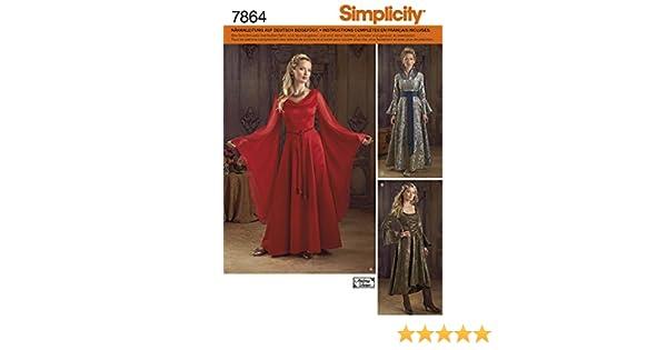 Simplicity 1008/Gr/ö/ße R5/Schnittmuster Fantasy Kost/üme Schnittmuster Mehrfarbig