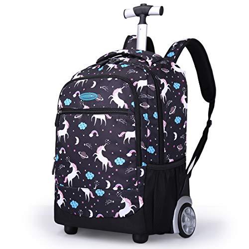 Trolley Rucksack Schulrucksack Kinder Multifunktionaler Rucksack Schultaschen Koffer Laptop Reise Schule Geschäft Rucksack Für Jungen und Mädchen, G