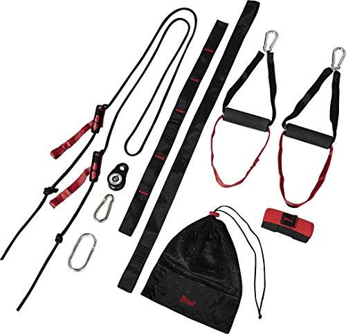 Golden Lutz - CRIVIT® Schlingentrainer mit Umlenkrolle (Rot Schwarz)