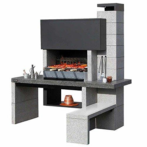 Barbecue a legna/carbonella SUNDAY modello NEW JERSEY, barbecue in muratura da giardino