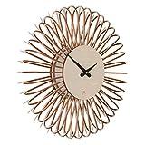 Wanduhr Circulo S: Moderne Design Wanduhr aus Holz. Vollkommen geräuschlos für Wohnzimmer, Küche, Schlafzimmer, Flur und Büro Taupe