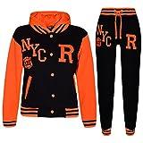 A2Z 4 Kids® Kinder Mädchen Jungen Baseball Trainingsanzug NYC FOX - T.S Baseball NYC Black N. Orange 13.1
