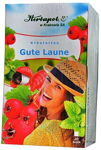 Stärkungs Kräuter Tee mit Guarana, Ginseng, Ingwer, Weißdorn, 4 weiteren Kräutern, 20 x 2g, 40g,...