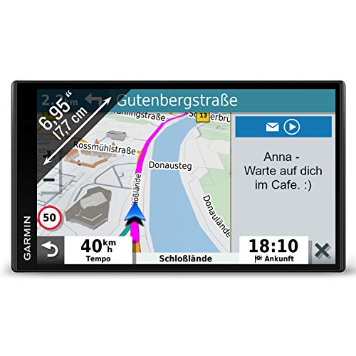 Garmin DriveSmart 65 MT-D EU Navi -  extragroßes Touch-Display, 3D-Navigationskarten und Live-Traffic via DAB+ -