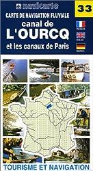 Carte de navigation fluviale : Canal de l'Ourcq et les Canaux de Paris