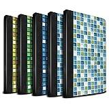 STUFF4 PU-Leder Hülle/Case/Brieftasche für Apple iPad Mini 4 tablet / Pack (15 Modelle) Muster / Bad Fliesen Kollektion