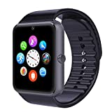 VOSMEP 2016 New Smart Watch Watch Phone Orologio Cellulare Telefonico supporto Facebook Twitter con Bluetooth 3.0 Intelligente Sport Bracelet con Camera 1.54 inch Touch Screen per Android Samsung HTC Xiaomi LG Huawei SIM Smartphones (Nero) SM8