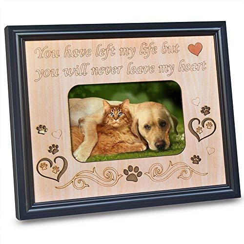 TERAFLOP Bilderrahmen 10x15 mit Gravur Sweet Little Spruch in Memory of Geliebten Hund Oder Katze