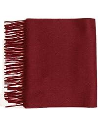 Pure Cashmere plain scarf, Maroon