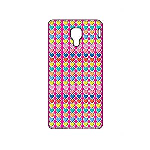 Vibhar printed case back cover for Micromax Canvas Spark Q380 ManyHearts