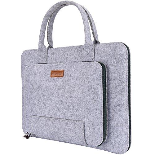 Ropch Laptoptasche 13,3 Zoll Filz Notebooktasche Hülle Case mit Griff für 13,3