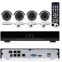 1080P POE NVR Kit Kit CCTV Kit de 4 canales IR 2.0 MP cámara IP impermeable